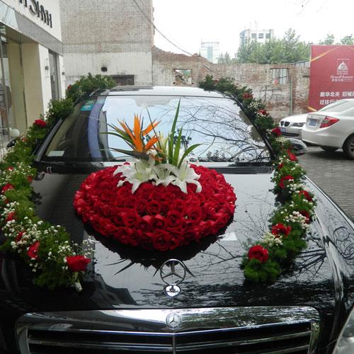 婚车装饰花9
